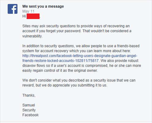 Facebook Vulnerability… They ignored it until now  | KALYPTO (IN